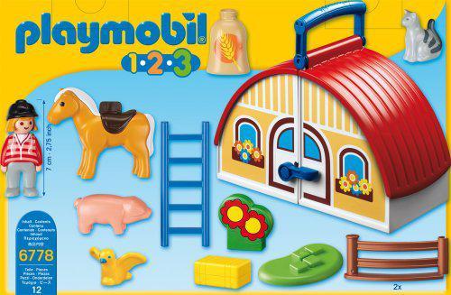 123 playmobil ferme