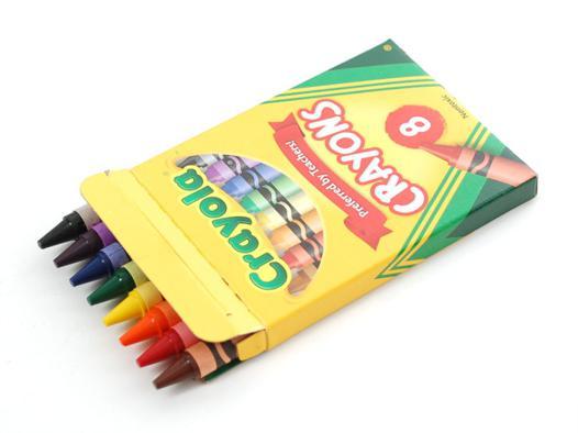 8 crayola crayons