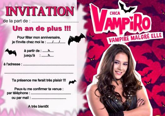 anniversaire chica vampiro
