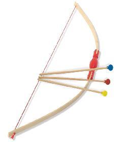 arc en bois jouet