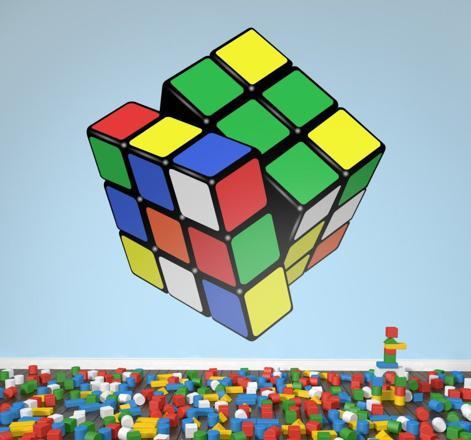 autocollant rubik's cube