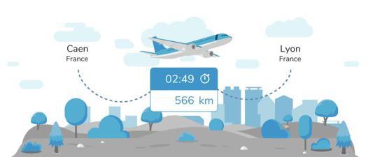 avion caen lyon