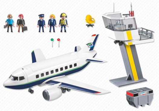 avion et tour de controle playmobil