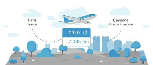 avion paris cayenne