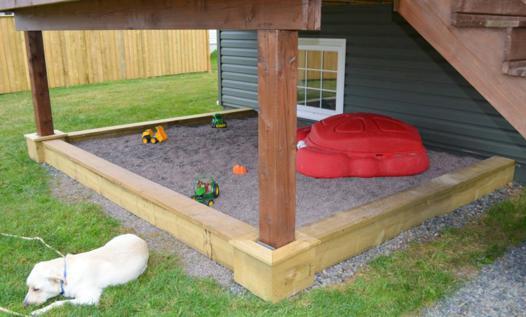 bac a sable fait maison