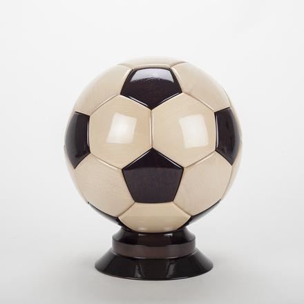 ballon de foot en bois