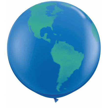 ballon globe terrestre