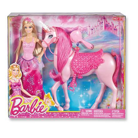 barbie et sa licorne