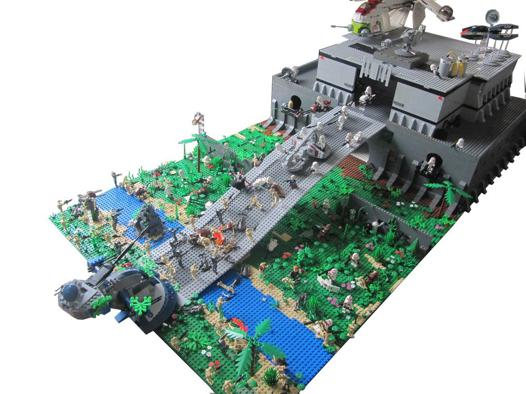 base de star wars en lego
