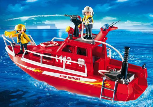 bateau playmobil pompier