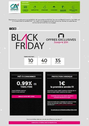 black friday credit agricole 2017