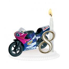 bougie anniversaire moto
