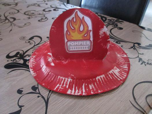 bricolage casque de pompier
