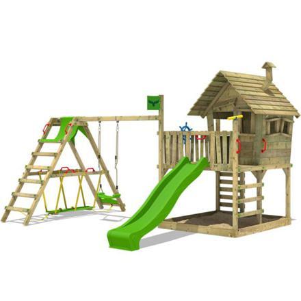 cabane enfant toboggan