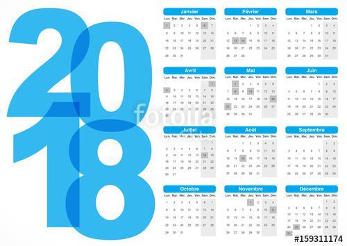 calendrier des bleu