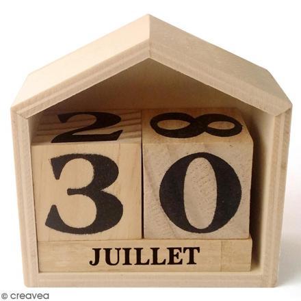 calendrier en bois