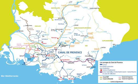 canal de provence carte