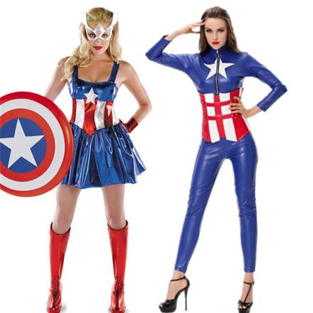 captain america deguisement femme
