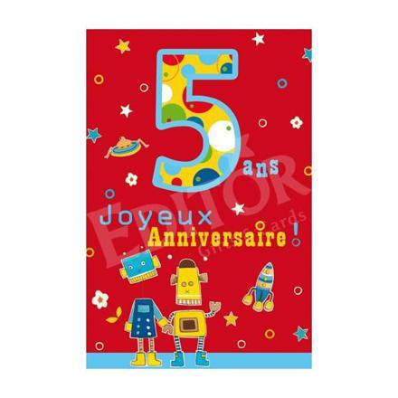 carte anniversaire garçon 5 ans