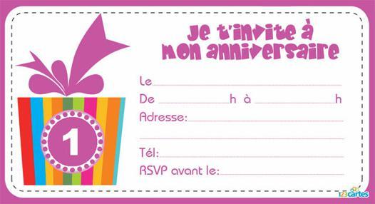 carte anniversaire pour fille de 9 ans