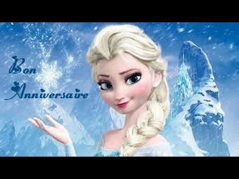 carte anniversaire reine des neiges