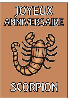 carte anniversaire scorpion