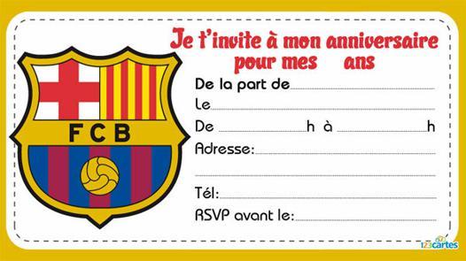 carte d anniversaire de foot