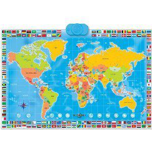 carte du monde interactive jouet