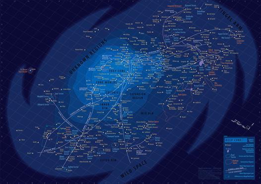 carte galactique star wars