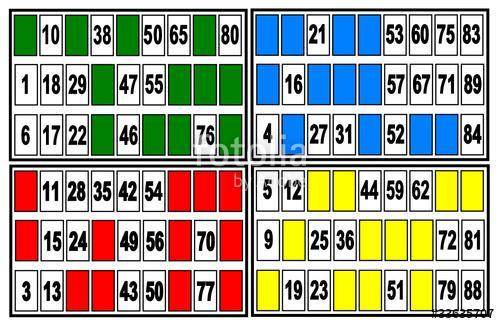 carte loto bingo