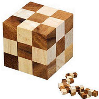 casse tete bois cube