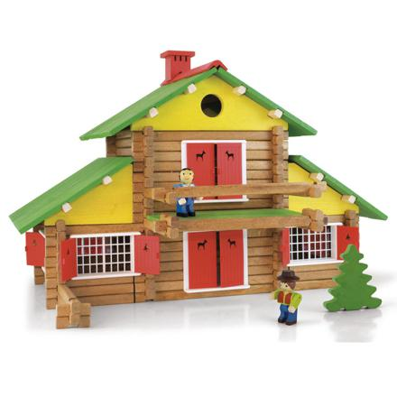 chalet en bois jouet