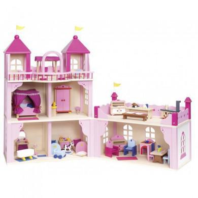 chateau de princesse en bois