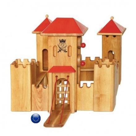 chateau en bois jouet
