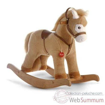 cheval a bascule en peluche
