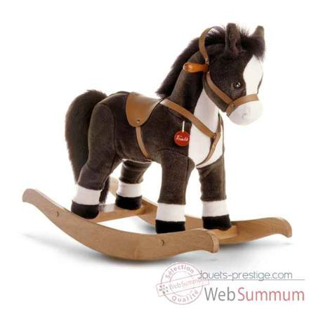 cheval à bascule peluche