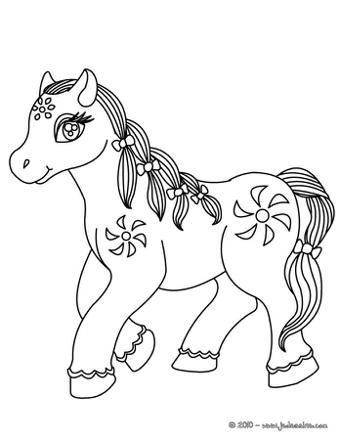 cheval à colorier