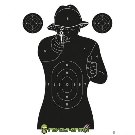 cible de tir pistolet a bille