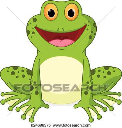 clip dessin animé grenouille