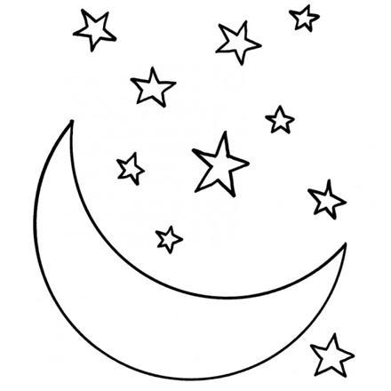 coloriage lune