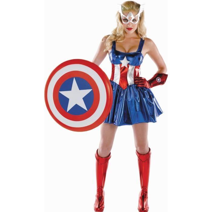 deguisement femme captain america
