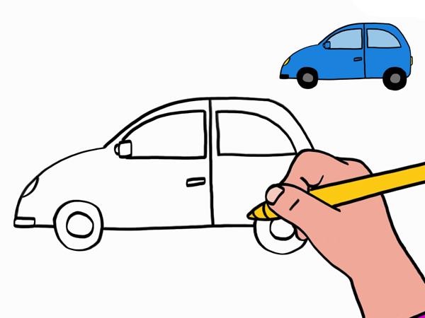 dessiner en voiture