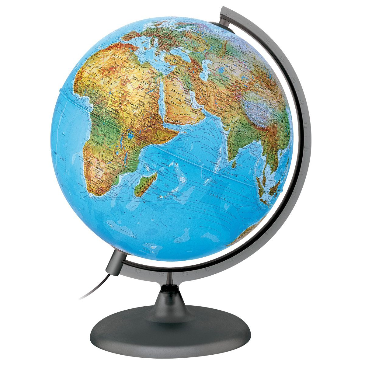 globe lumineux terrestre