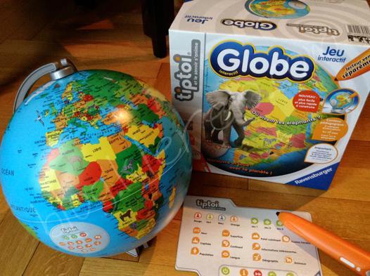 globe tiptoi avec stylo