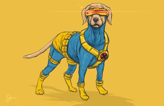 jeux de chien super hero