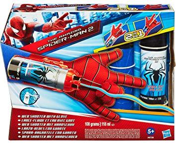 spiderman lance fluide et eau