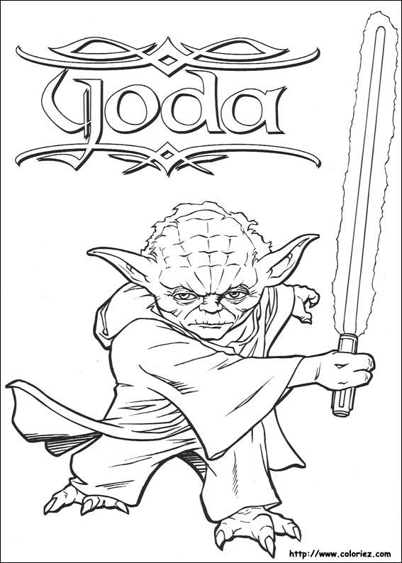 star wars dessin à colorier