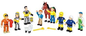 coffret 10 figurines sam le pompier