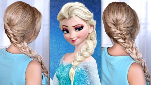 coiffure d elsa la reine des neiges