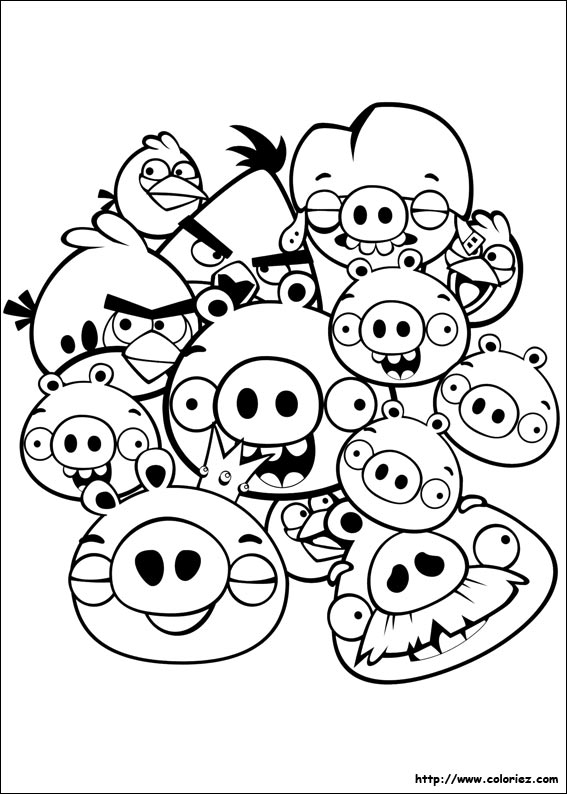 coloriage angry birds